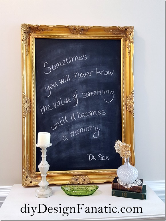 how to distress a framed chalkboard, framed chalkboard, distressed white chalkboard, cottage, cottages style, farmhouse, farmhouse style, diyDesignFanatic.com