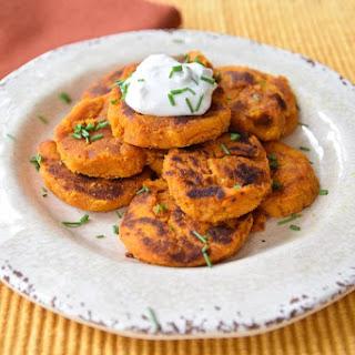 Sweet Potato Pumpkin Fritters {Gluten Free, Vegan}.