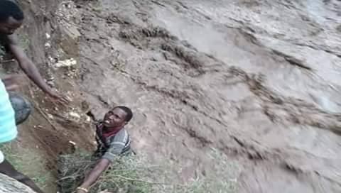 Heavy rain and landslides in Chesogon, Marakwet
