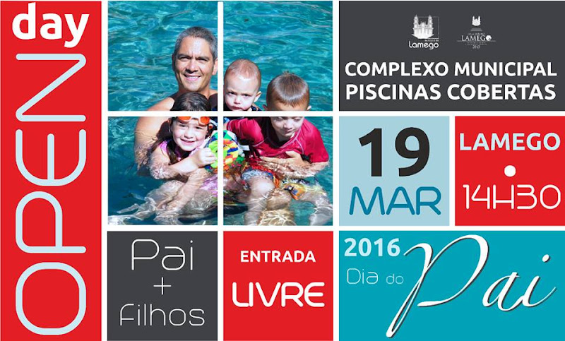 Complexo de Piscinas oferece entradas no Dia do Pai