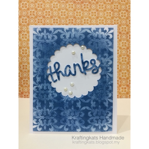 tone on tone stamped handmade card