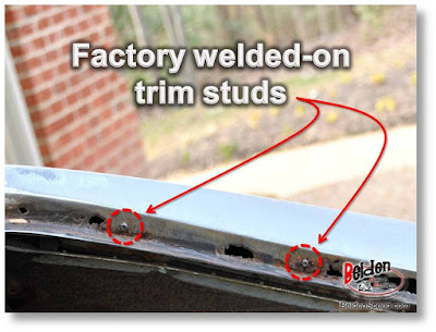 Windshield Replacement Cost >> A-Body Window Trim Clip Stud Options - Belden Speed ...