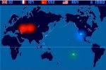 Mappa animata delle 2053 esplosioni nucleari sulla Terra dal 1945 al 1988