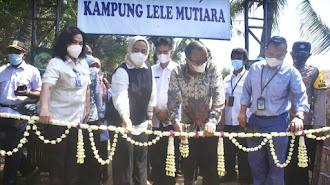 Bupati Karawang Resmikan Kampung Lele Mutiara Desa Sumurgede