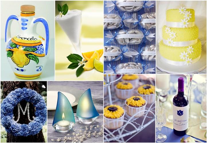 Amalfi Coast : Yellow and Blue Wedding Idea - Varese Wedding