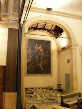 Photo: Sammartini: crollo volta cappella laterale