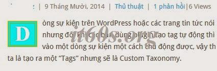 Cách tạo Drop cap cho bài viết wordpress không dùng Plugin 3