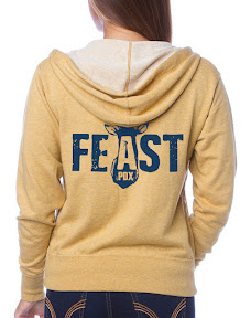 Flavour Gallery Unisex Fresh Terry Hooded Zip Up Sweatshirt with thumbholes for Feast 2015