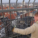 my brother being blown away by the city in Copenhagen, Copenhagen, Denmark