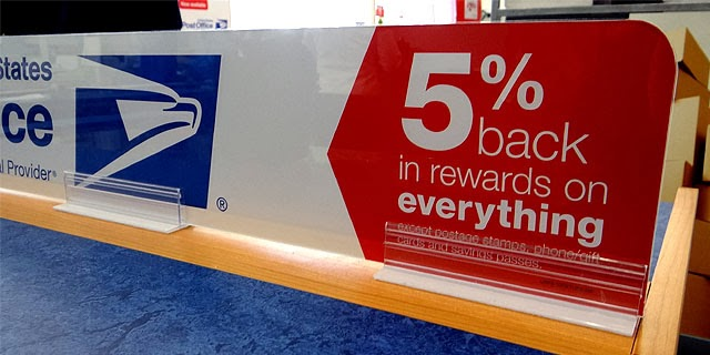 5% Staples Rewards sign