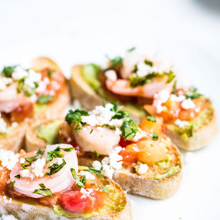 Shrimp Tartines