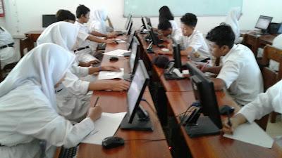 Pendidikan - Gladi Bersih UNBK SMP Tahun 2018