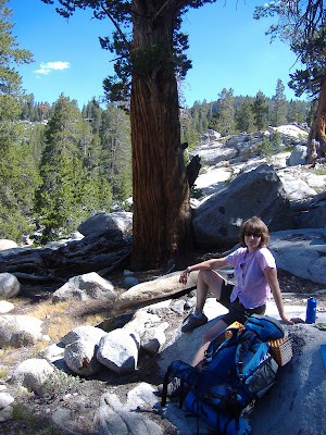 M at a rest stop...with great trees around us.©http://backpackthesierra.com