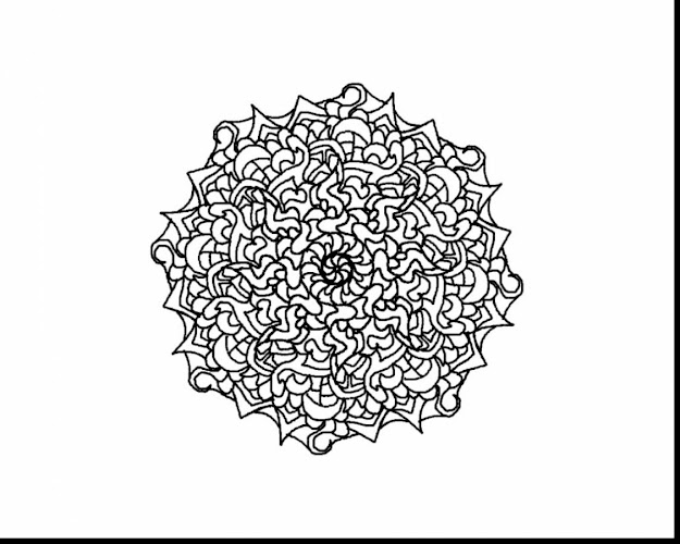 Spectacular Hard Mandala Coloring Pages With Challenging Coloring Pages And  Challenging Halloween Coloring Pages