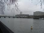 Temža v pozadí Londýnske oko