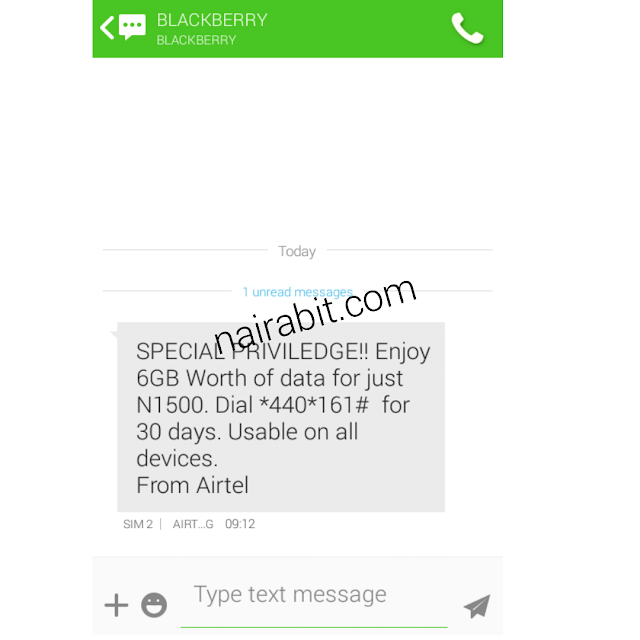 Airtel Special Privilege: Get 6GB For N1500 on Android, PC and Blackberry