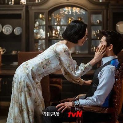 Ji Sung (Kang Yo-han) and Kim Min-jung (Jun Su-ah) in The Devil Judge scene