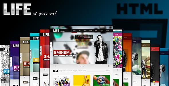 Themeforest Life - News, Multimedia, Video, Music, Blog Theme! - Full