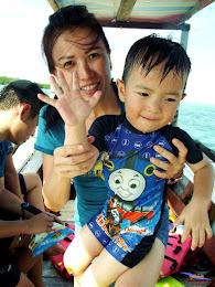 family trip pulau pari 140716 Fuji 079