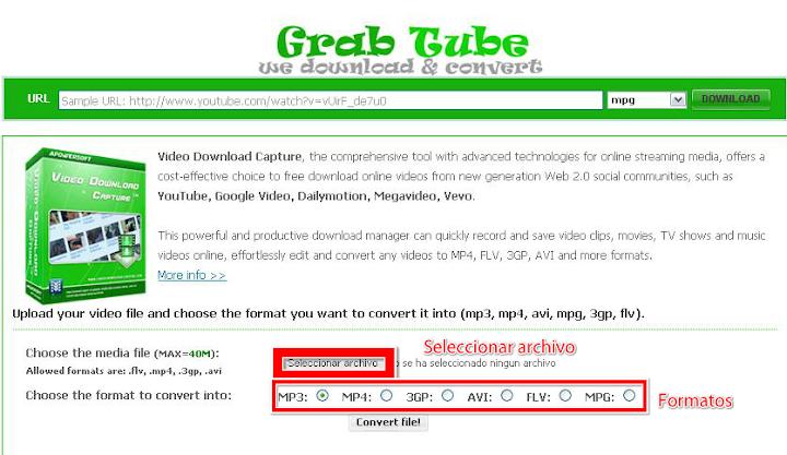 Grab-Tube convertidor
