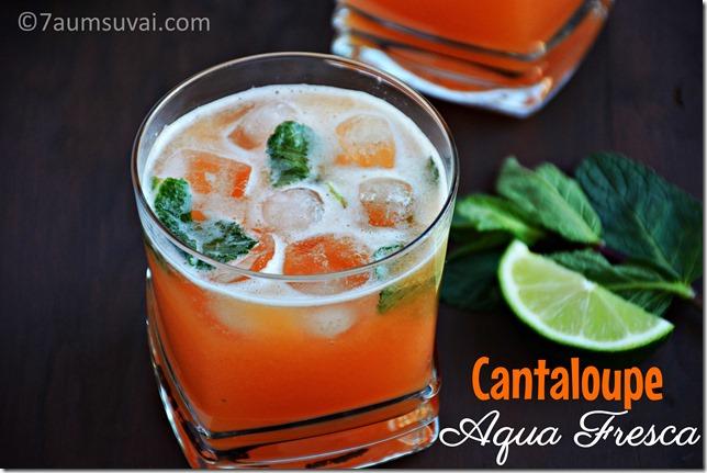 Cantaloupe agua fresca / Cantaloupe juice