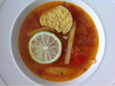 Mexicaanse pittige soep
