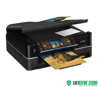 How to reset flashing lights for Epson PX800FW printer