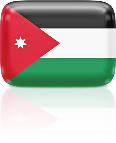 Jordanian flag clipart rectangular