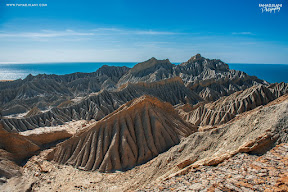 Beautiful View on the top of Kund Malir Rocks Baluchistan
