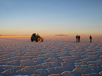 Sunrise over the Salar