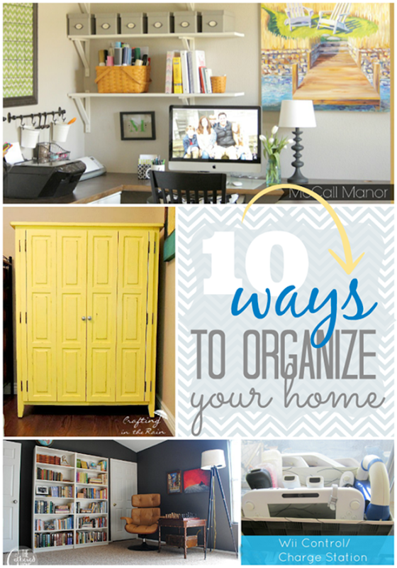 10 ways to organize your home at GingerSnapCrafts.com #linkparty #features_thumb[2]