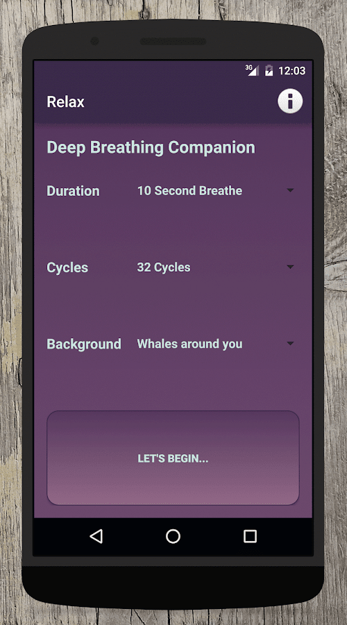 Relax: stress relief companion- screenshot