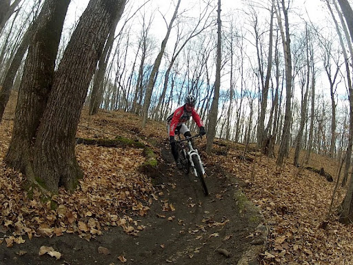 Leaf free berm and singletrack!