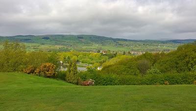 Blick vom Golfplatz Llandrindod