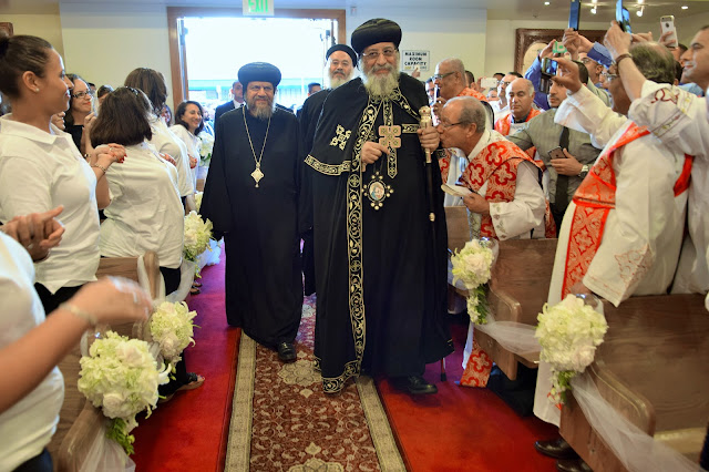 His Holiness Pope Tawadros II visit to St. Mark LA - DSC_0138.JPG