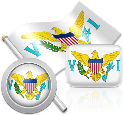 Virgin Island flag icons pictures collection