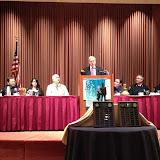 Jim Johnson addresses the group
