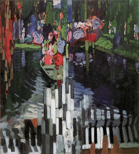 František Kupka - Piano Keys, Lake