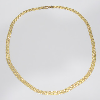 14K Gold Woven Chain Necklace