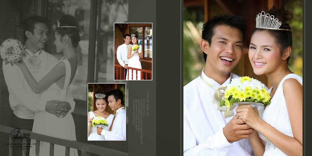 Diễn viên Diễm Châu rạng ngời trong album hình cưới quận 2