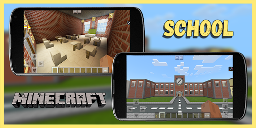 School and Neighborhood – map Minecraft (MCPE) APK