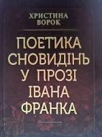 Христина ВОРОК. Поетика сновидінь у прозі Івана Франка