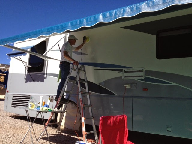 Polishing RV sidewall