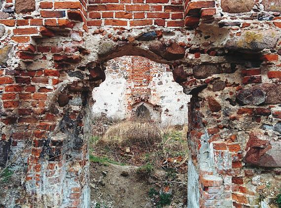 Лютеранская кирха Повунден в Храброво. Калининградская область