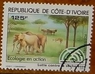 timbre Côte d'Ivoire 001