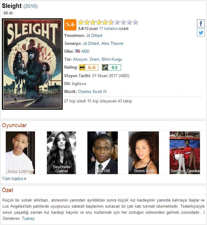 Sleight 2016 - 1080p 720p 480p - Türkçe Dublaj Tek Link indir
