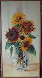 słoneczniki, olej, płótno, 40/80 cm, własność prywatna
