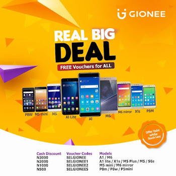 Jumia Black Friday: Gionee is Giving Free Vouchers on All Phones