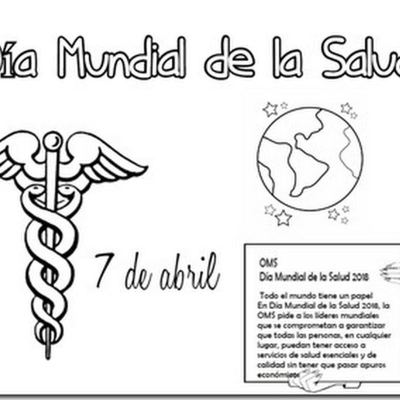 Dibujos para pintar del Día Mundial de la Salud