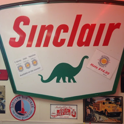Vintage Sinclair Gas Station Sign at Charlie Parker's Diner
